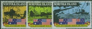 NFI SG522-4 50th Anniversary of Outbreak of Pacific War set of 3